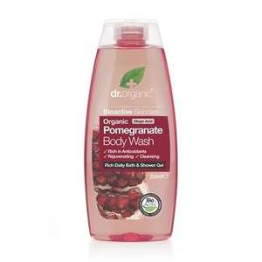 2 x Dr Organic Pomegranate Body Wash 250ml for £3 (Free C&C) @ Holland & Barrett