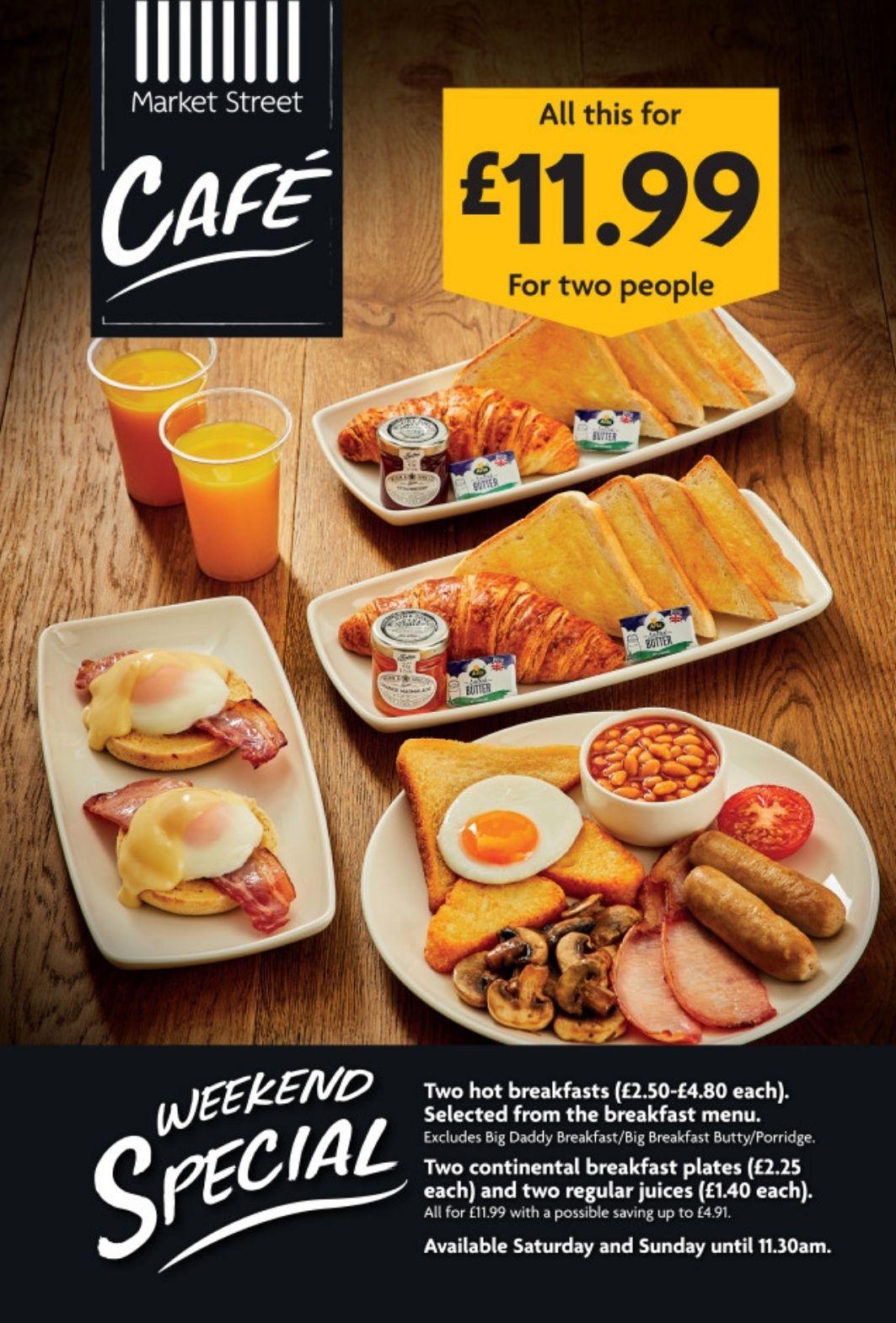 Morrison's Breakfast for 2 people £12