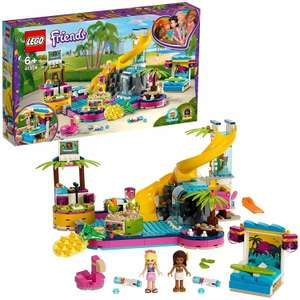 LEGO 41374 Friends Andrea's Pool Party Set with Andrea and Stephanie Mini-Dolls, DJ Box, Aquarium and Fish - £30 @ Amazon