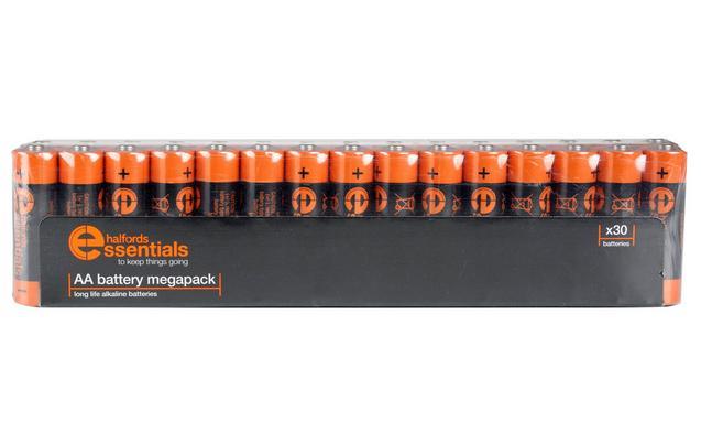 30 Halfords essentials Alkaline AA Batteries free C+C £5 @ Halfords