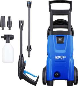 Nilfisk C 120 bar Pressure Washer (1400W motor, 6m high pressure hose), Blue for £59.99 Delivered @ Amazon UK