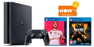 PS4 Slim 500GB + FIFA 20 + COD BO4 + 2 Month Now TV Entertainment Only £89.99/ PS4 Pro 1TB Only £189.99 (with trade in) @ Game