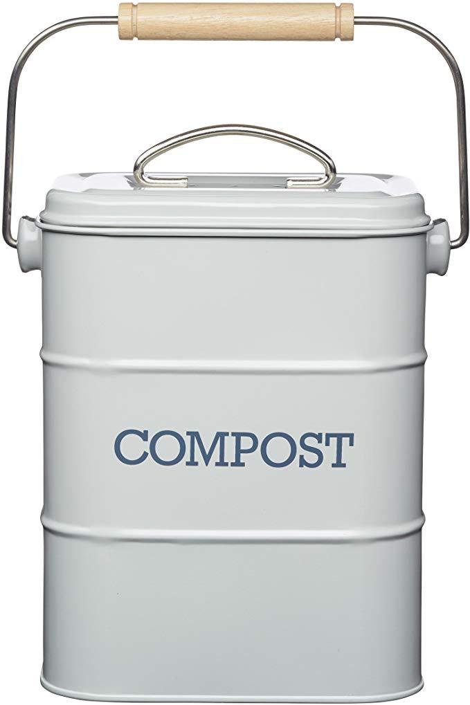 KitchenCraft Living Nostalgia Metal Kitchen Compost Bin now £10.40 (Prime) + £4.49 (non Prime) at Amazon