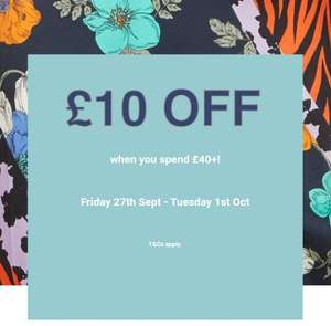 £10 Off When You Spend £40 In-Store @ River Island