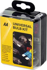 AA Compact Universal Bulb Kit, inc H1, H4 and H7 bulbs - Black £2.50 at Amazon-add-on item