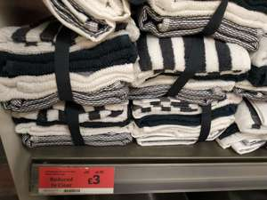 4 pack Sainsbury's Home 100% Cotton Kitchen Hand Towels - £3 (in-store)