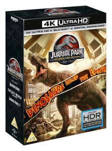 Jurassic Park: Trilogy Collection (4K Ultra HD + Blu-ray) [UHD] £26.99 @ Zoom (with new sign up code)
