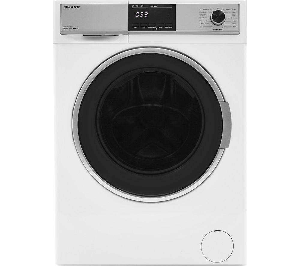 SHARP ES-HDB8147W0 8 kg Washer Dryer - White