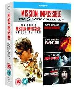 [Blu-Ray] Mission: Impossible 1-5 £7.99 delivered @ Zoom