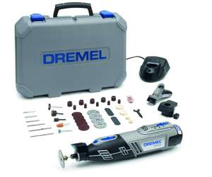 Dremel 8220 Cordless Rotary Tool 12V, Rotary Multi Tool Kit with 2 Attachments 45 Accessories £92.99 @ Amazon
