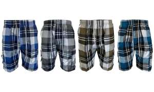 Universal Clothing Men's Sport Checked Cargo Shorts £6.98 delivered @ Groupon