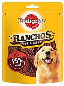 Pedigree Ranchos - Tender Dog Treats with Beef, 7 Bags (7 x 70 g) for £1.82 @ Amazon Prime / £6.31 Non Prime