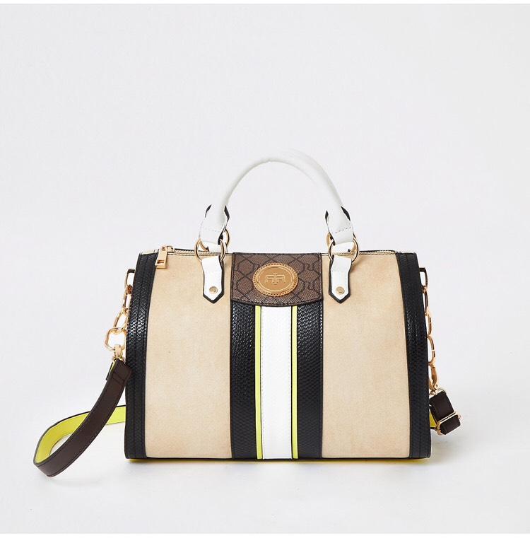 Beige and Yellow Medium Bowler Bag - £33.99 @ River Island (+£5.99 P&P)