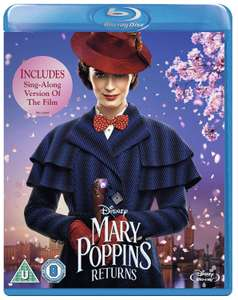 Mary Poppins Returns Blu-ray (Includes Sing-Along Version) [2018]  - £10.00 @ Amazon Prime (+£2.99 P&P for Non-Prime)