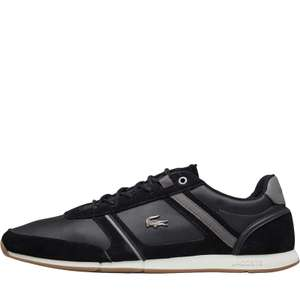 Lacoste Mens Menerva Trainers Black £41.98 @ MandM Direct