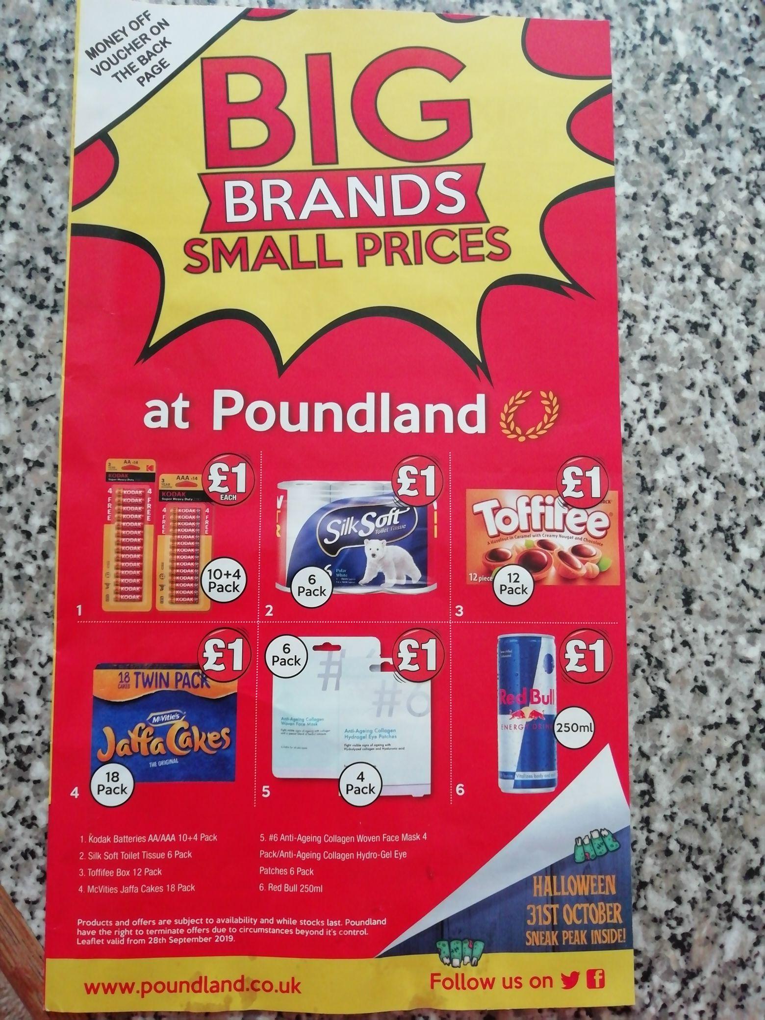 £2 off £12 Voucher in Poundland magazine