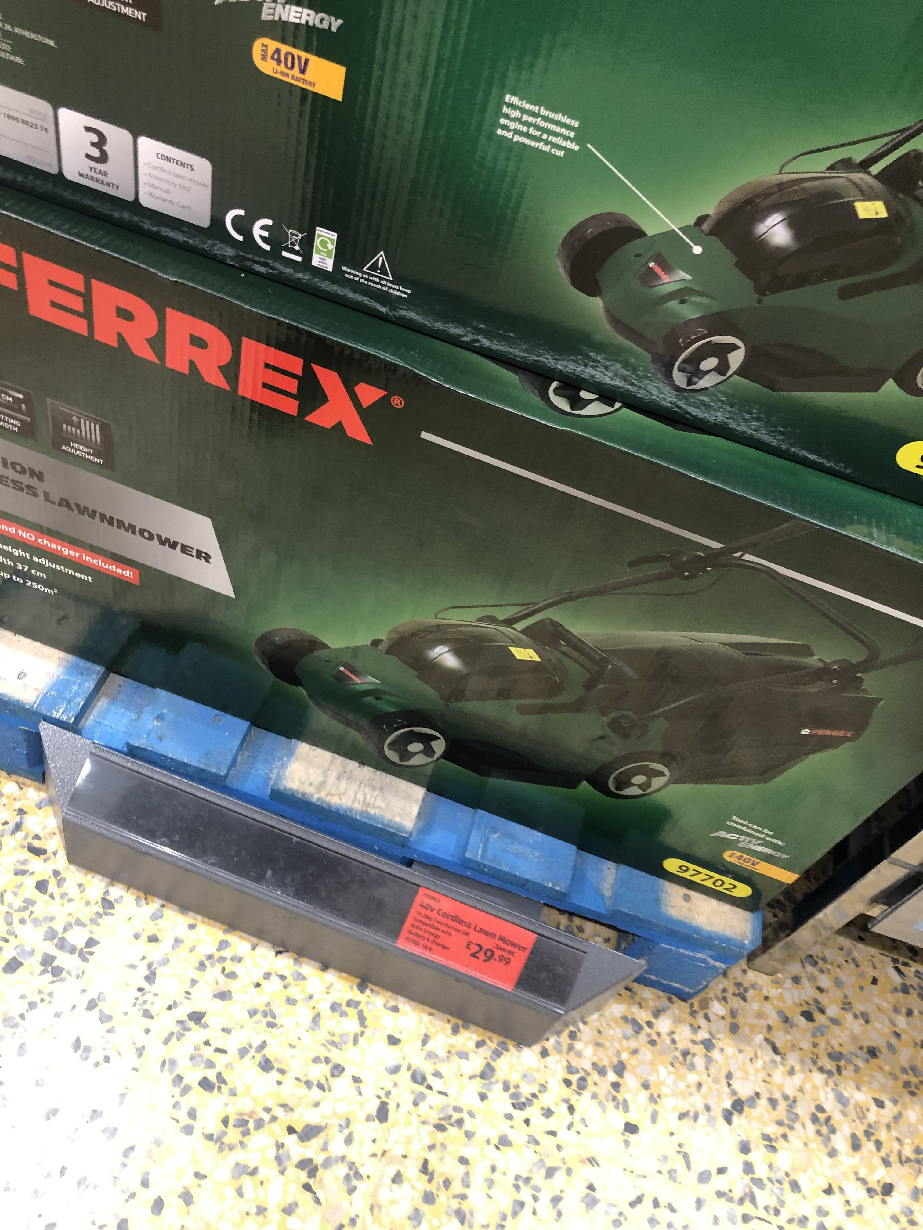Cordless Lawn Mower £29.99 instore @ Aldi Coulsdon