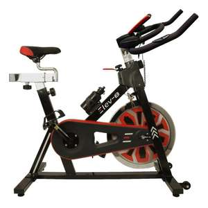 ELEV-8 Spin Exercise Bike Fitness Cardio Workout Machine BLACK/RED £129.95 @ ebay / why.buy.new