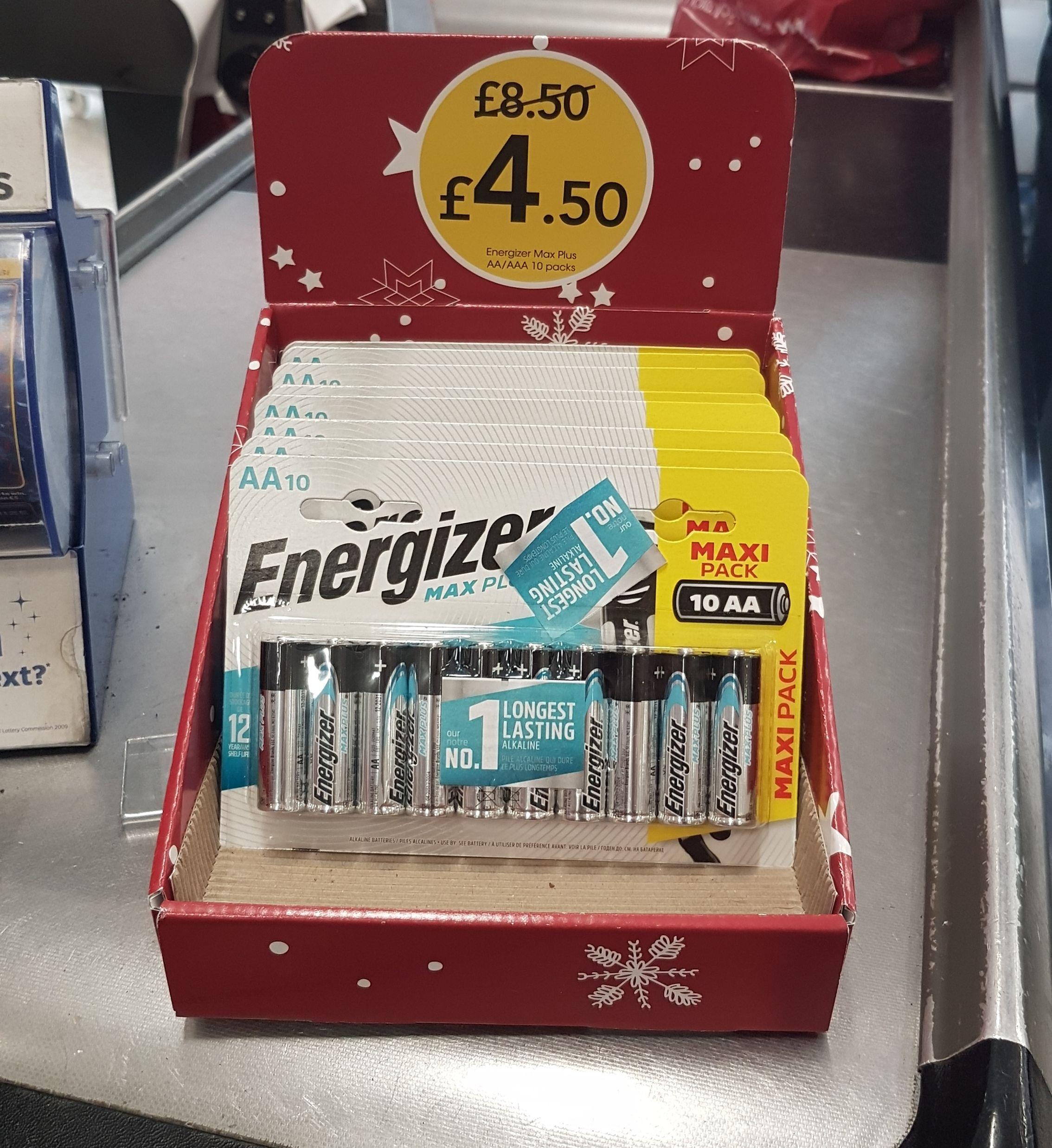 Half price Energizer MaxPlus AA & AAA Batteries 10 pack £4.50 @ wilko