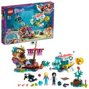 Lego 41378 Friends Mission Boat Playset with Submarine, Shipwreck and Dolphin Figures, Sea Life Rescue Series £23 @ Amazon