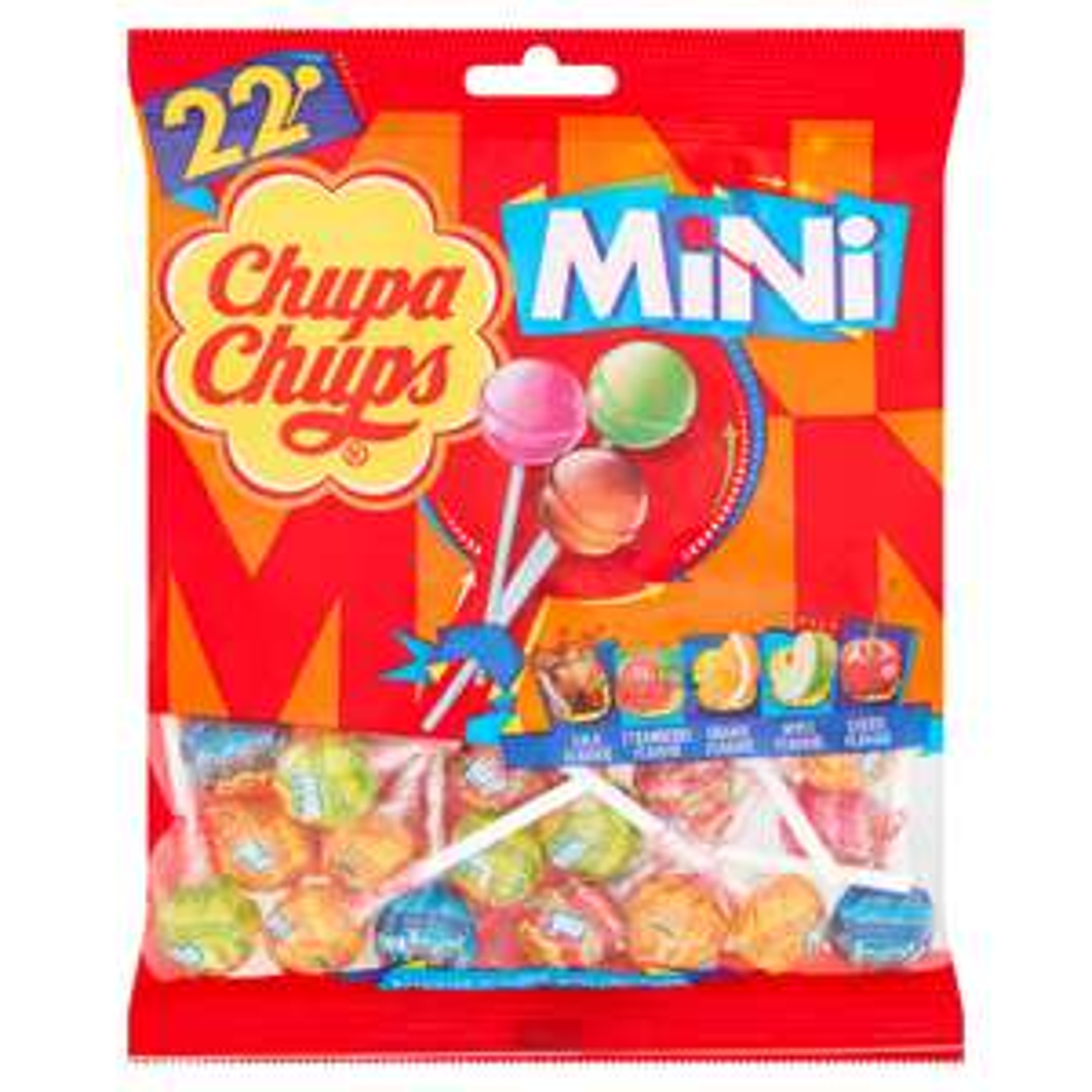 Chupa Chups 22 Assorted Flavour Mini Lollipops (132g) £1 @ Iceland