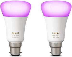 Philips Hue Richer Colours B22 (Twin Pack) £57.66 @ Amazon