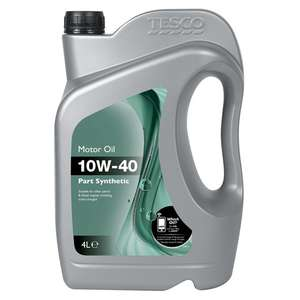 Tesco motor oil 10W-40, part synthetic - £4 instore Chester greyhound