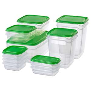 PRUTA Food container (Set of 17) £4 (+£3.95 Delivered) @ Ikea