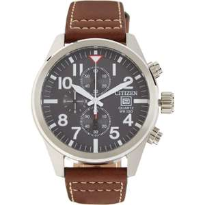 Citizen AN3620-01H Brown Leather Chronograph Watch £56 at TKMaxx + £1.99 Click & Collect / £3.99 delivery