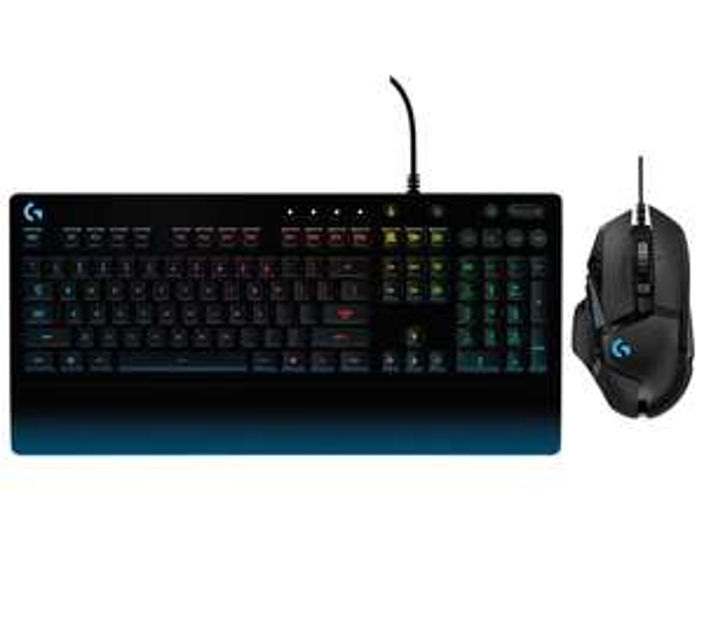 LogitechG213 Prodigy Gaming Keyboard & G502 Hero Optical Gaming Mouse Bundle - £79.99 @ Currys PC World