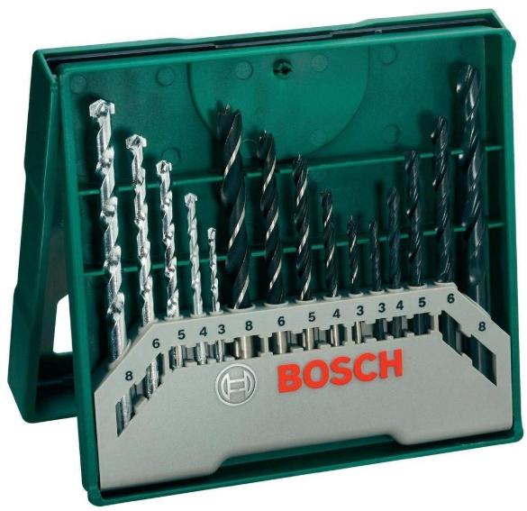 Bosch Home and Garden 2607019675 15-Piece Mixed Mini X-Line Drill Set - £8.90 (prime) /£13.39 (non prime) @ Amazon