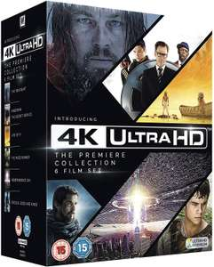 4k Ultra Hd The Premiere Collection 6 Films - The Revenant /Kingsman /Life of Pi /The Maze Runner /Independence Day /Exodus £26.02 @ Amazon