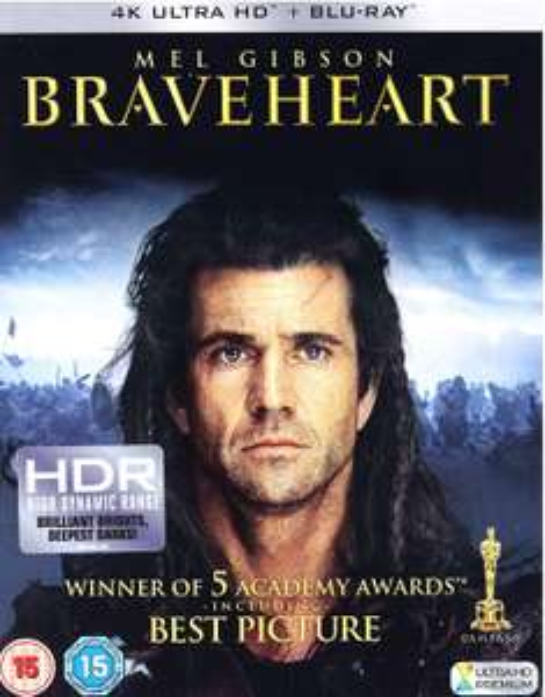 BRAVEHEART 4k/Blu ray £10.33 (Prime) / £13.32 (non Prime) at Amazon