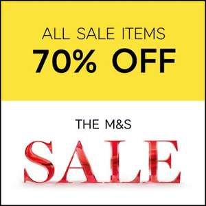 Marks and Spencer All sale items now 70% off started online