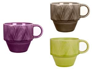 Crackle Glaze Stoneware Stackable Mug (Purple, Grey or Lime) for £1.60 @ John Lewis & Partners (c&c £2 or free with £30 spend)