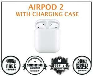 New Apple AirPods 2nd Generation with Charging Case White - Bluetooth 2019 £125.10 @  clickandgetuk  ebay