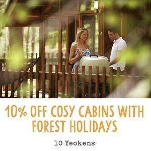 10% off Forest Holidays