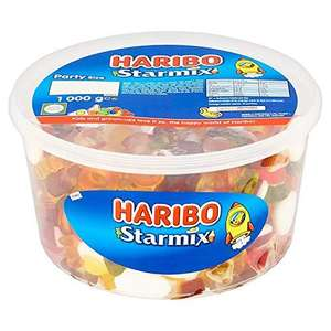 Haribo Starmix 1kg tub £4 in-store at The Food Warehouse. Tangfastics, Supermix and Giant Strawbs also available.