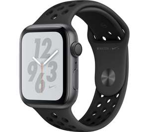 APPLE Watch Series 4 Nike+ - Space Grey & Anthracite Sports Band, 44 mm - £323.10 using code Currys ebay