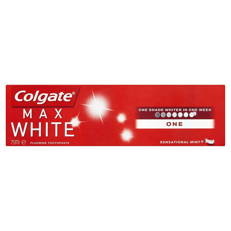 Colgate Max White 75ml x2 packs £2 at Amazon - add on item