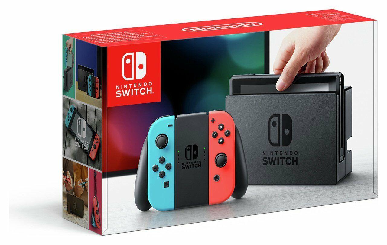 refurb Grade A Nintendo Switch 32GB WiFi Console - Neon Red/Blue - £153 @ Argos eBay