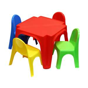 Childrens Plastic Table and 4 Chairs Set £14.99 with Free Click & Collect @ Ryman