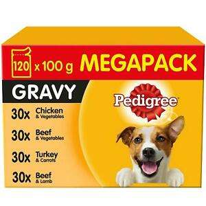 120 x 100g Pedigree Dog Food Pouches in Gravy - £20 instore @ FarmFoods