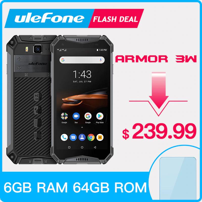 "Ulefone Armor 3W Rugged Smartphone Android 9.0 IP68 5.7"" 6GB + 64GB 10300mAh @ Aliexpress / Ulefone"
