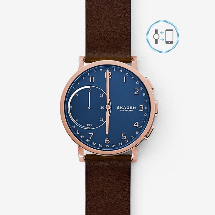 Skagen Hybrid Smartwatch - Hagen Dark Brown Leather £69 at Skagen