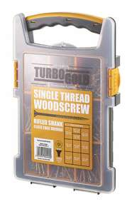 Turbogold PZ Double Self Countersunk Wood Screws Trade Grab Pack 1000 PCS £14.99 @ Screwfix Click & Collect