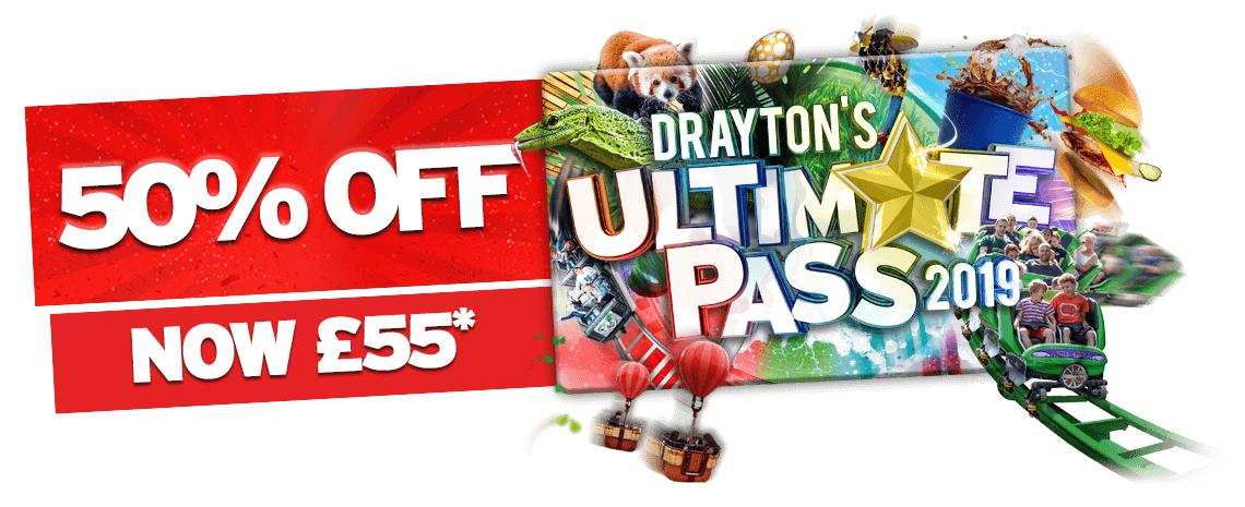 Drayton Manor half price annual passes - £55