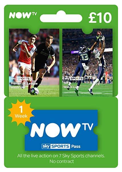 NOW TV Sports pass 1 week £4.49 @ CJS-CDkeys