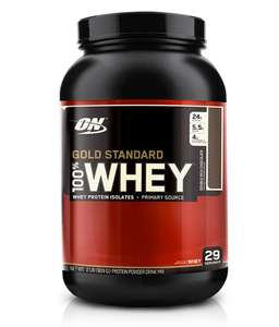 Optimum Nutrition ON Gold Standard Whey Protein Powder 29 Servings, 900 g, £17.49 at Amazon Prime / £21.98 Non Prime