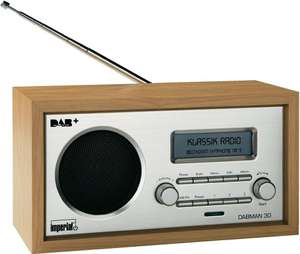 Imperial DABMAN 30 Digital Radio (DAB +/DAB/FM, Aux In, incl.Power Supply (Brown) - £22.40 @ Amazon